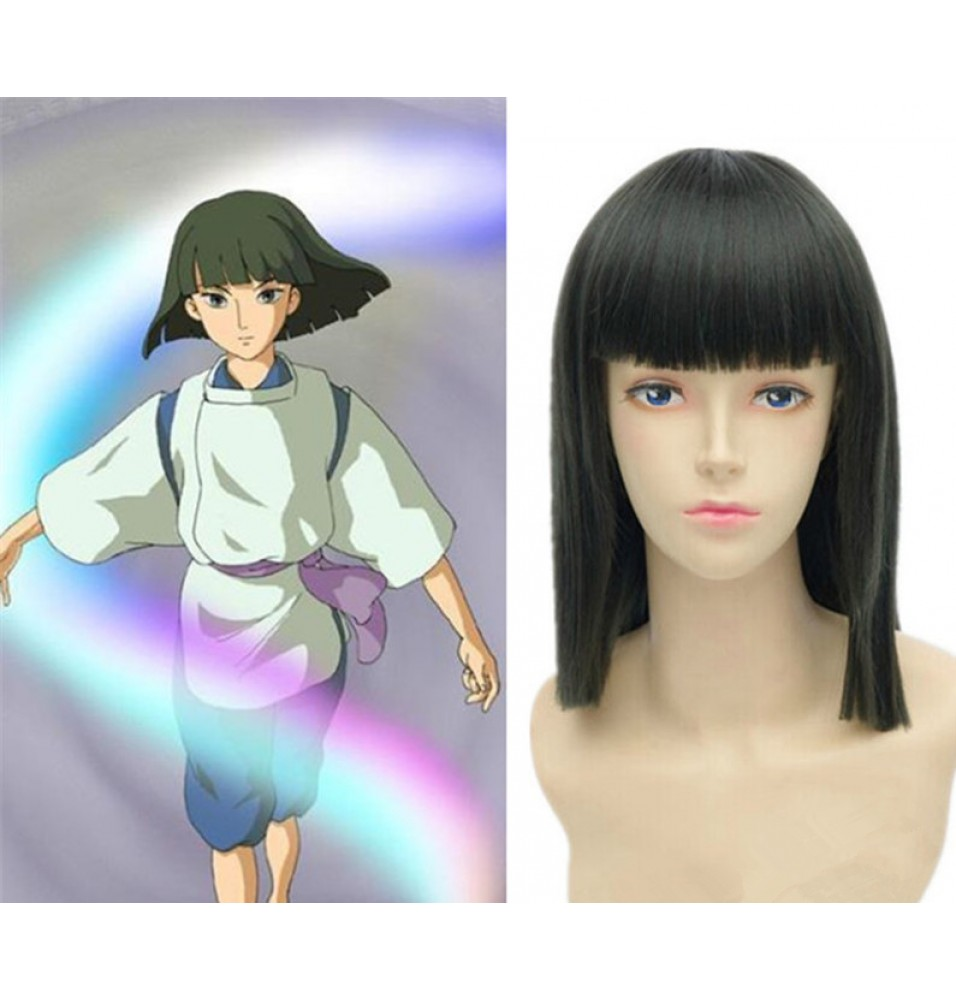 Spirited Away Haku Nigihayami Kohaku Short Straight Cosplay Wigs