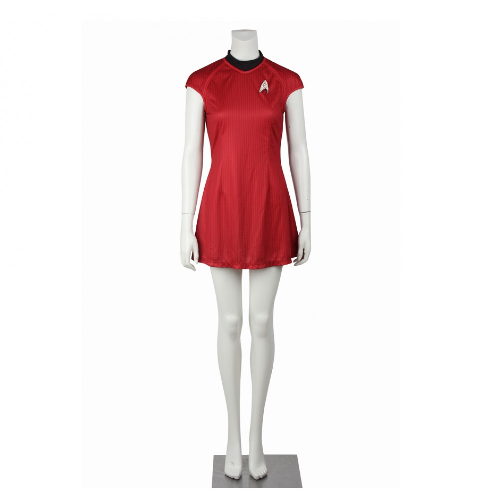 Star Trek Into Darkness Nyota Uhura Red Dress Uniform Costume