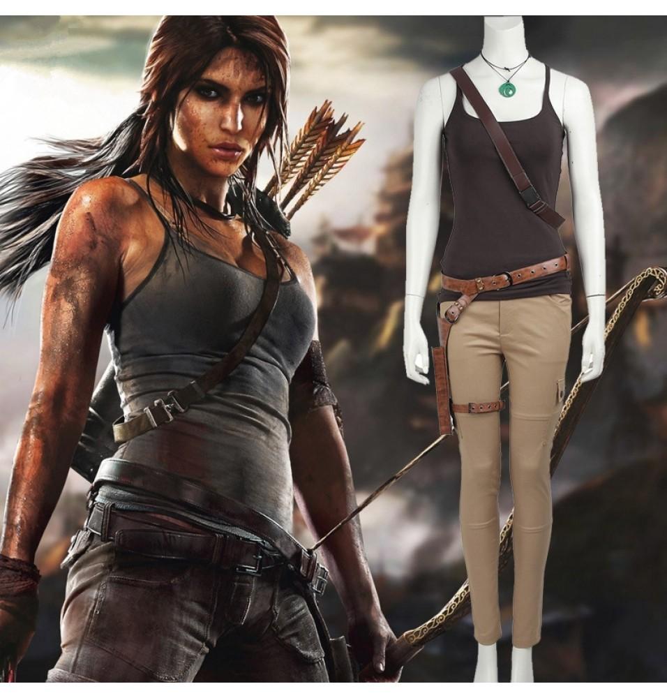 Tomb Raider Lara Croft Cosplay Costume Vest Version