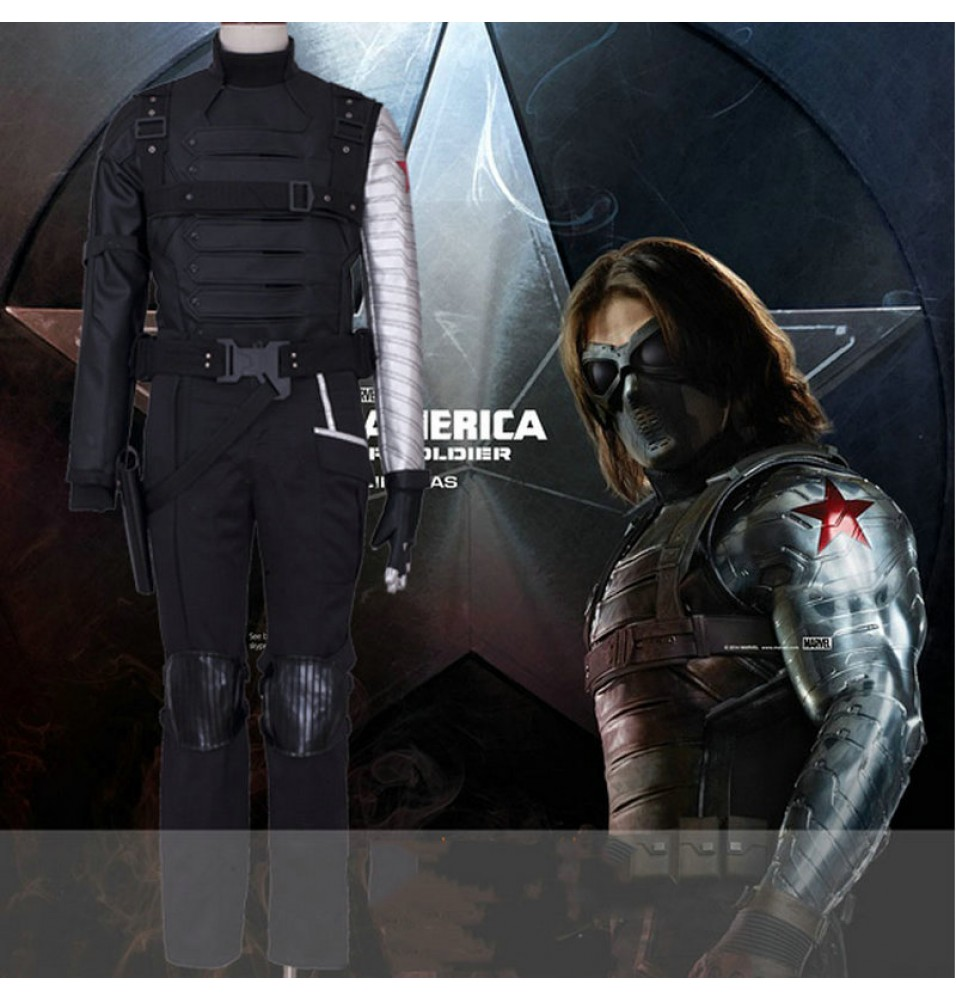Winter Soldier Bucky Barnes Cosplay Deluxe Costume