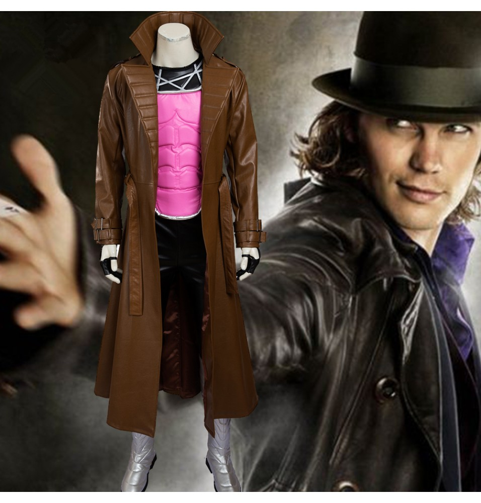 X-Men Gambit Remy LeBeau Cosplay Costume Deluxe Outfit