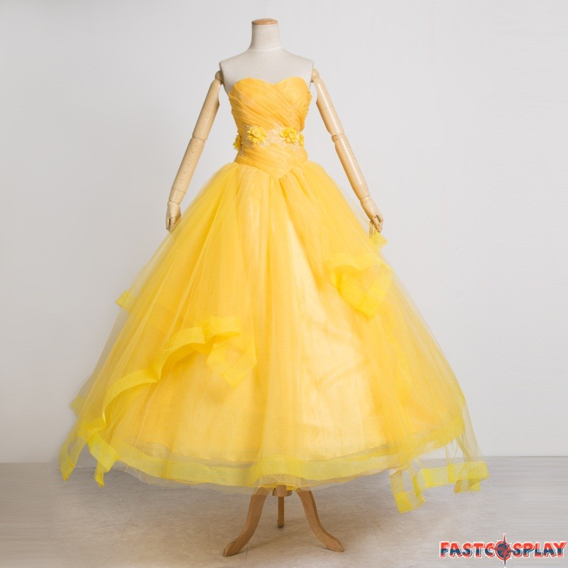 2017 Movie Beauty and The Beast Belle Princess Dress Costume Cosplay