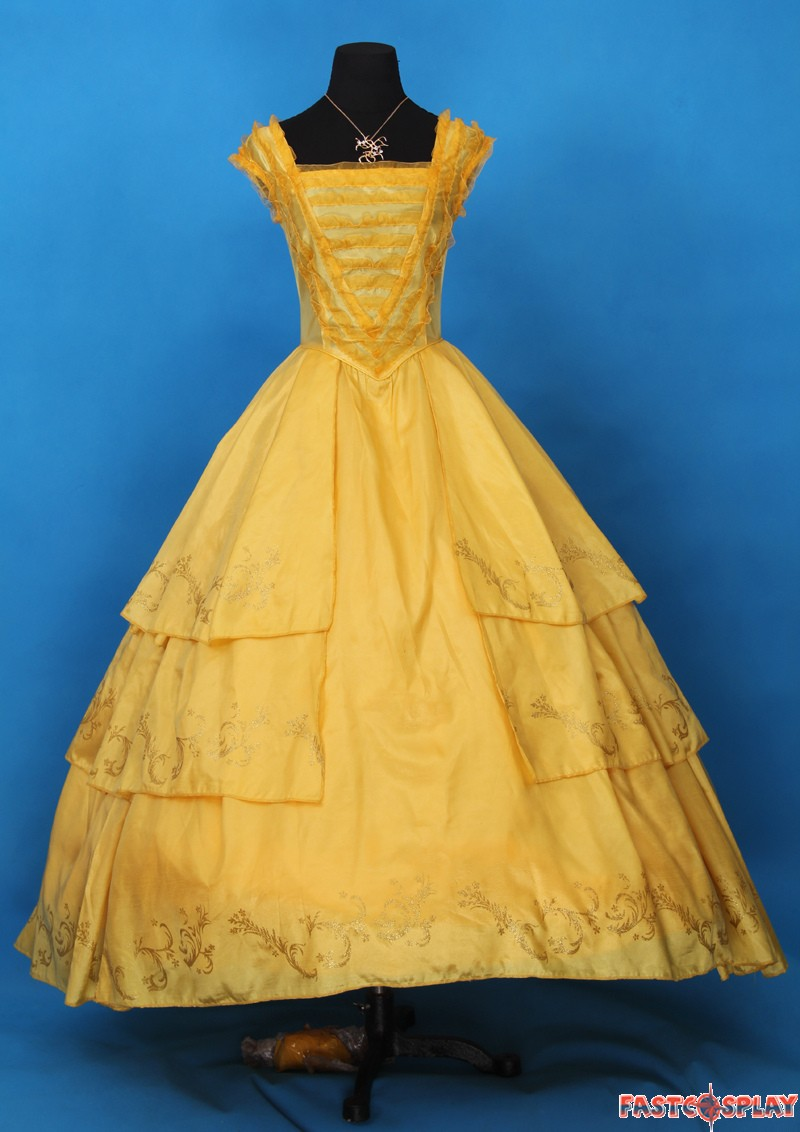 ... 2017 Disney Movie Beauty and The Beast Princess Belle Dress Deluxe Costume ... & 2017 Movie Beauty and The Beast Princess Belle Dress Deluxe Costume