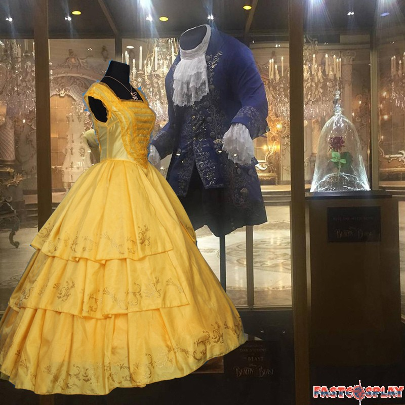 b5dda02435 2017 Disney Movie Beauty and The Beast Princess Belle Dress Deluxe Costume