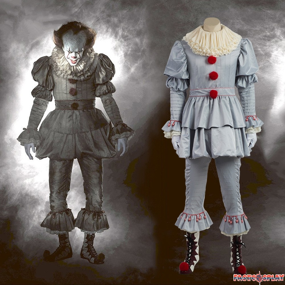 2017 Stephen King S It Pennywise Clown Cosplay Costume