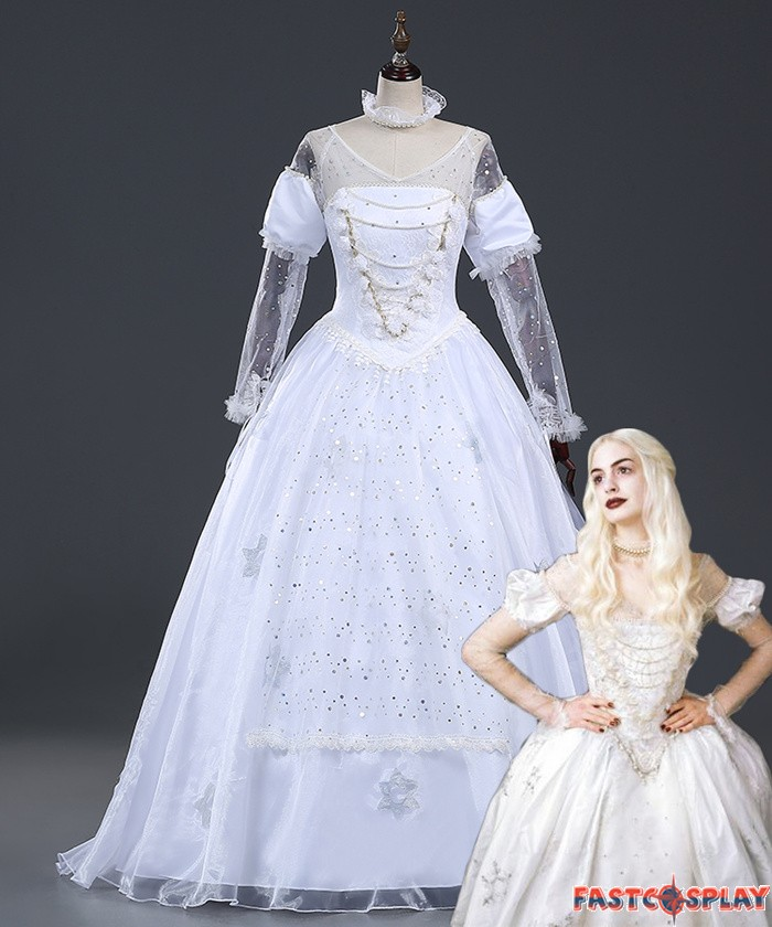 White queen dresses