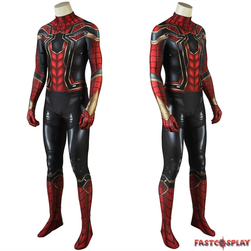 Avengers Infinity War Spider Man Cosplay Costume 3d