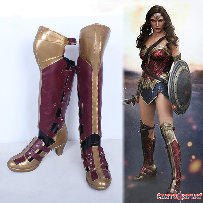 Justice Wonder Woman Boots Cosplay Shoes