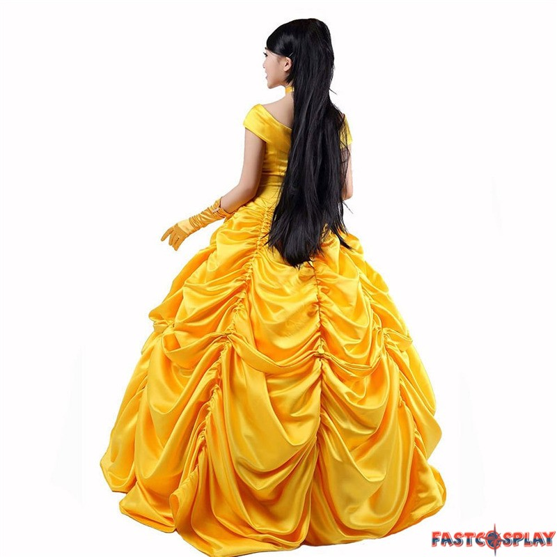 ... Disney Beauty and the Beast Belle Princess Evening Gown Dresses Costume  sc 1 st  FastCosplay & Beauty and the Beast Belle Princess Evening Gown Dresses Costume