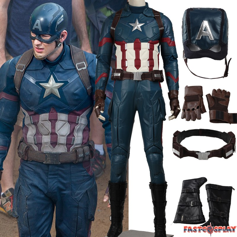 60f9fcbd6bf Captain America 3 Civil War Steven Rogers Cosplay Costume Deluxe