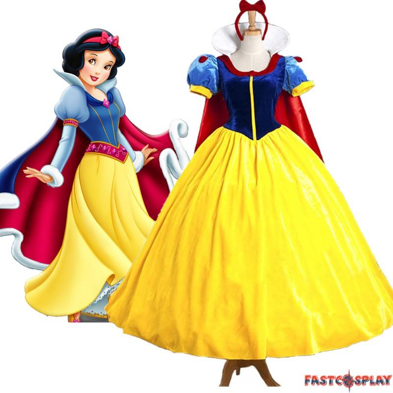 Disney Snow White Princess Dress Cosplay Costumes