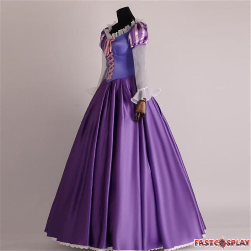 Disney Tangled Princess Rapunzel Adult Cosplay Costume ...