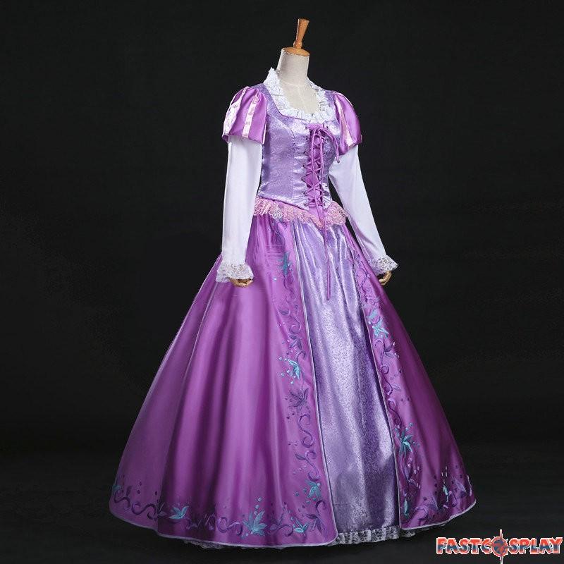 Disney Tangled Princess Rapunzel Dress Cosplay Costume