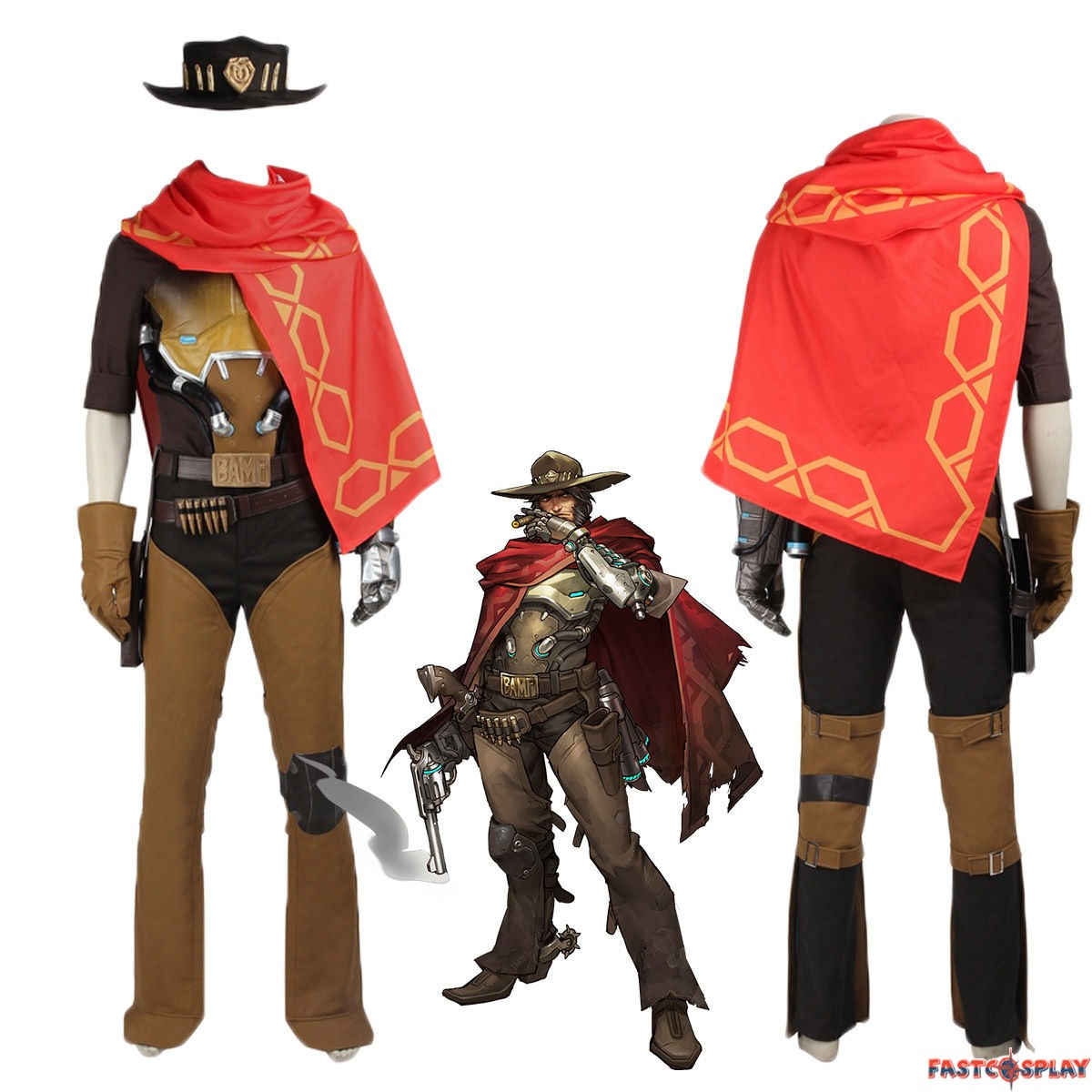 Overwatch Jesse Mccree Cosplay Costume Deluxe on frozen guard