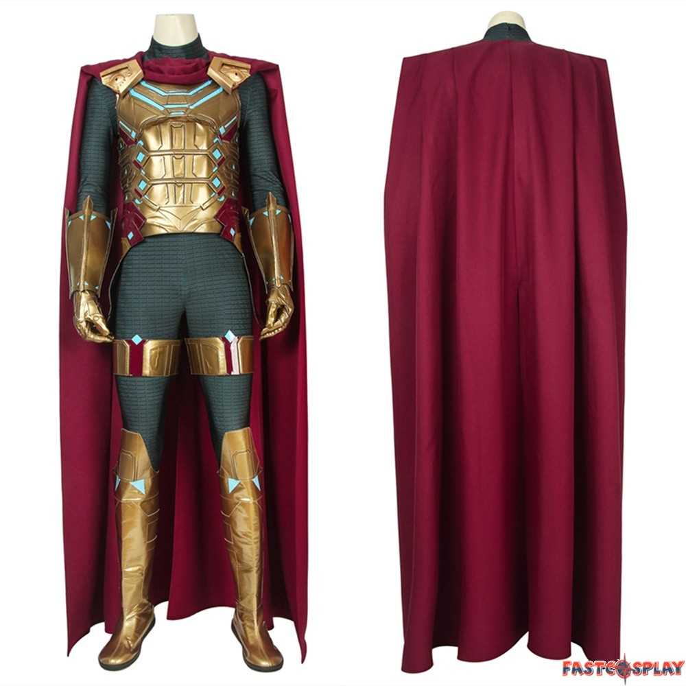 Spider Man Far From Home Mysterio Cosplay Costume Deluxe Version