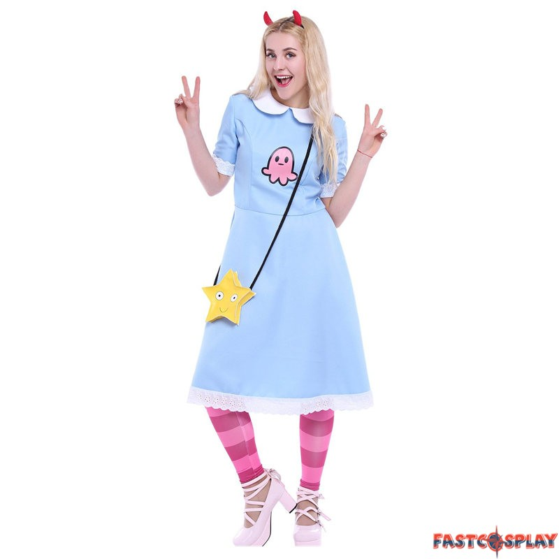 sc 1 st  FastCosplay & Star vs the Forces of Evil Princess Star Butterfly Blue Dress Costume