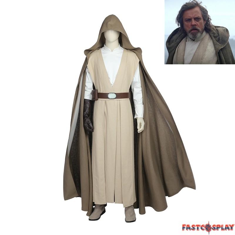 Star Wars 8:The Last Jedi Luke skywalker Cosplay Costume Custom Made Halloween