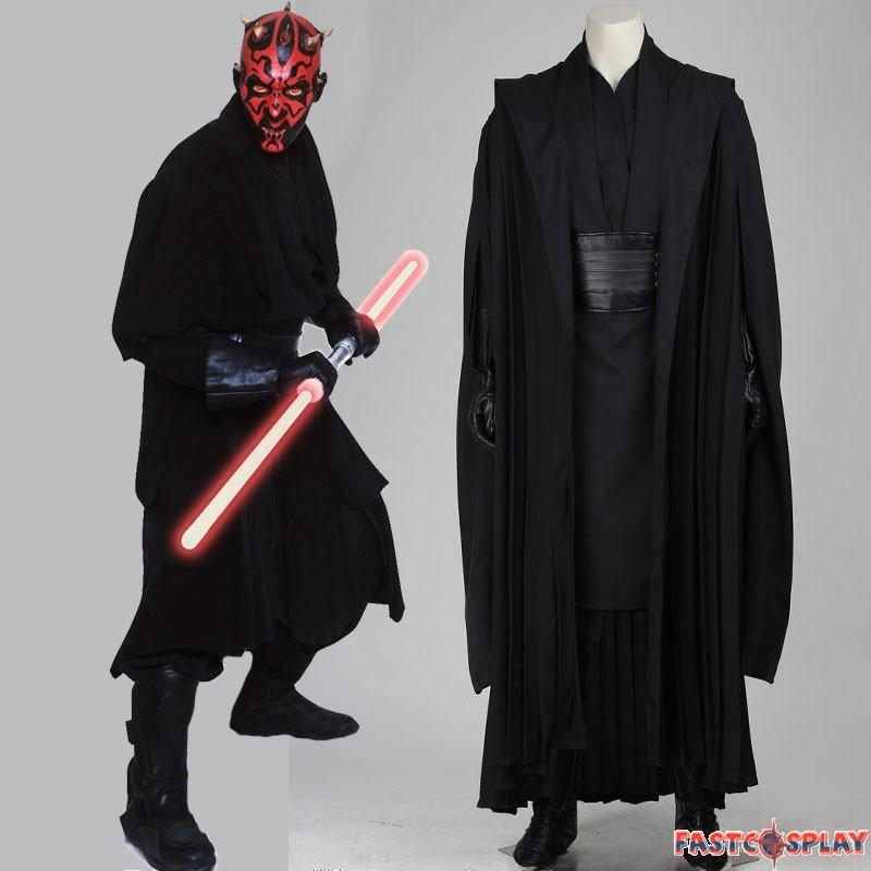 Star Wars Sith Anakin Skywalker Darth Maul Robe Cosplay Costume Suit Cloak