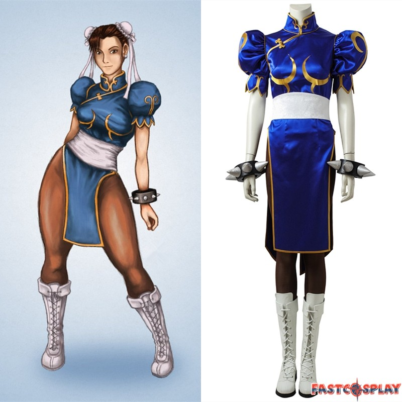 Street Fighter V Chun Li Cosplay Costume