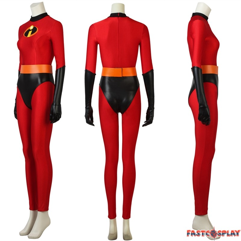 The Incredibles 2 Cosplay Costume Elastigirl Helen Parr Cosplay Costume Elastigirl Jumpsuit Women Cosplay Costume For Halloween Party