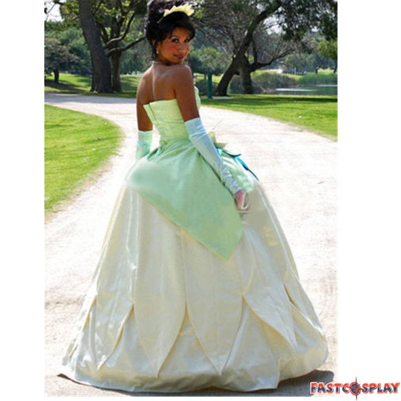 Princess Tiana Dress: The Princess And The Frog Tiana Princess Dress Cosplay Costume