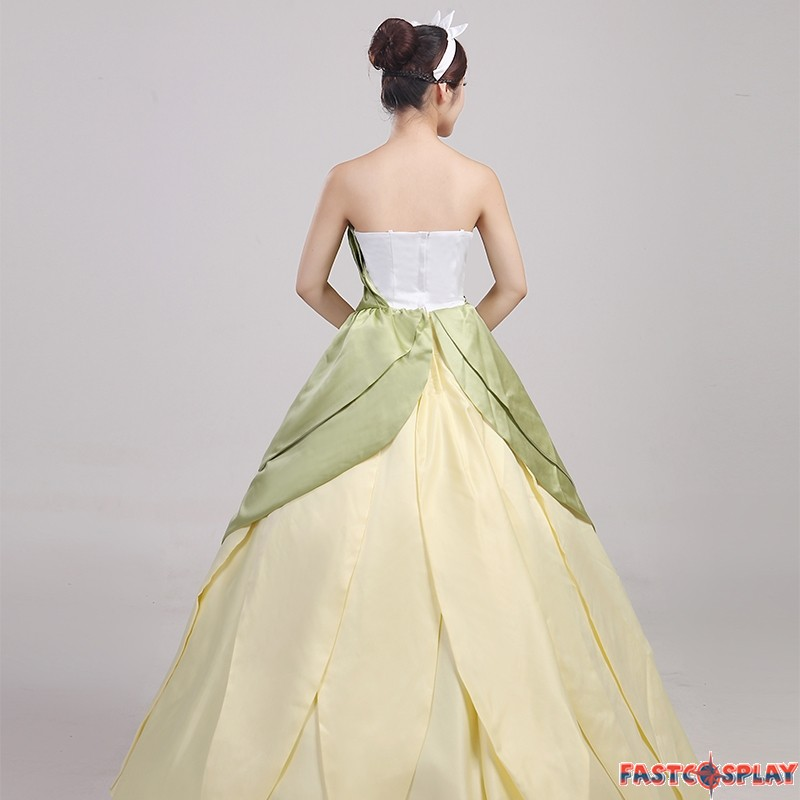 Princess Tiana Outfit: The Princess And The Frog Tiana Princess Dress Cosplay Costume