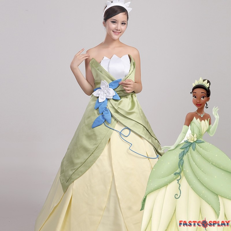 The Princess And The Frog Tiana Princess Dress Cosplay Costume