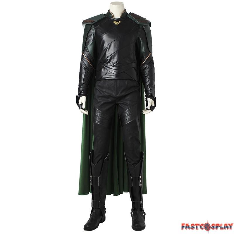 Thor Ragnarok Loki Cosplay Leather Boots Shoes Custom Made Any Size;33