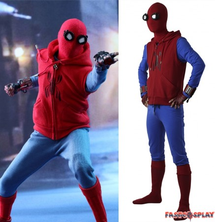 2017 Spider-Man Homecoming Spiderman Cosplay Costume Deluxe