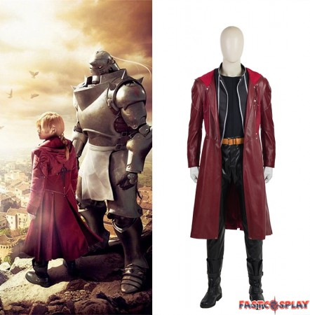 2017 New Fullmetal Alchemist Edward Elric Cosplay Costume Deluxe