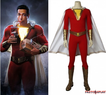 2019 Movie Shazam Cosplay Costume Billy Batson Costume