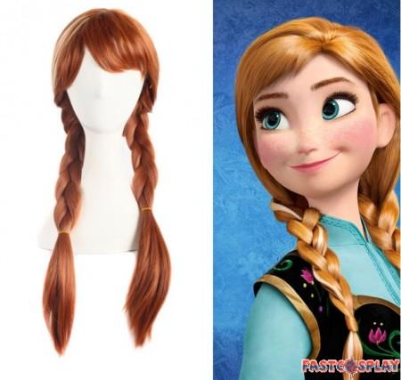 Disney Frozen Princess Anna Wigs Cosplay Braids Wigs