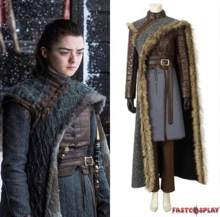Game of Thrones 8 Arya Stark Cosplay Costume Deluxe
