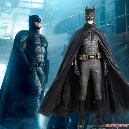 2017 Justice League Batman Cosplay Costume Deluxe Outfit Full Set