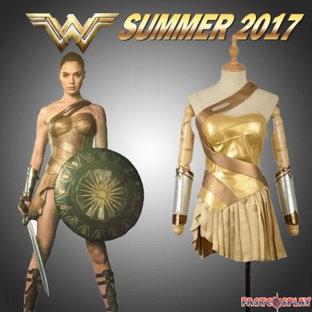 2017 New Wonder Woman Golden Dress Skirt Cosplay Costume - Deluxe Version
