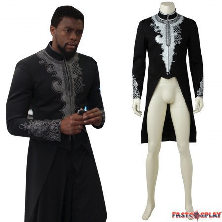 2018 Black Panther Outfit Costume T'Challa Black Panther Cosplay Coat