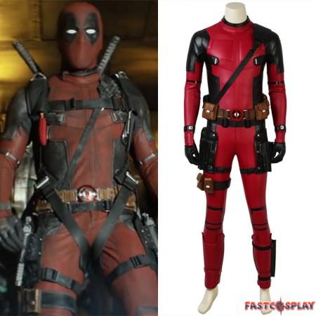 2018 Deadpool 2 Cosplay Costume Wade Wilson Costume - Deluxe Version