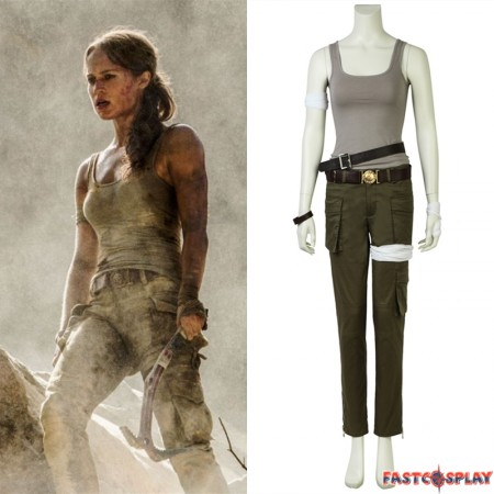 2018 Tomb Raider Alicia Vikander Cosplay Costume