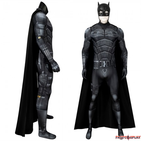 2021 Movie The Batman Bruce Wayne Robert Pattinson 3D Jumpsuit