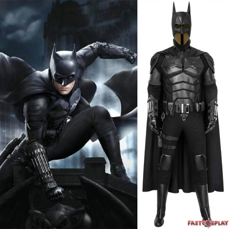 2021 Movie The Batman Robert Pattinson Cosplay Costume Deluxe