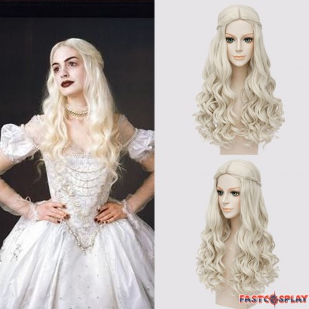 Disney Alice in Wonderland 2 The White Queen Cosplay Wigs
