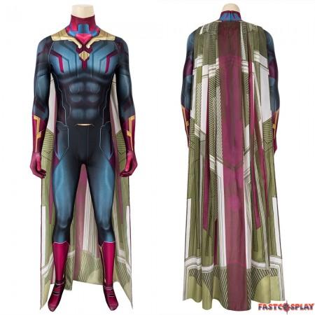 Avengers 3 Vison Jumpsuit 3D Cosplay Suit