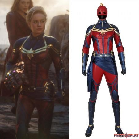 Avengers Endgame Captain Marvel Cosplay Costume