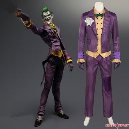 Arkham Asylum Joker Cosplay Costumes