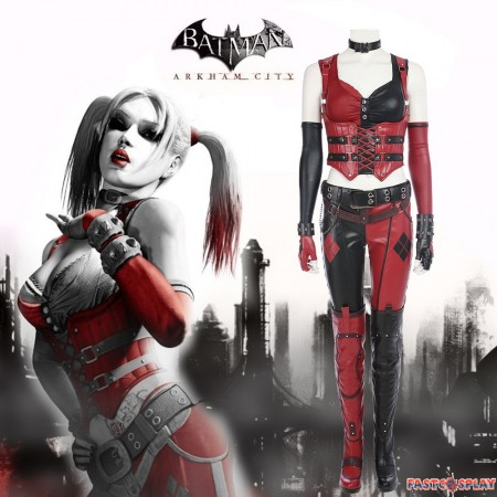Arkham City Harley Quinn Cosplay Costume