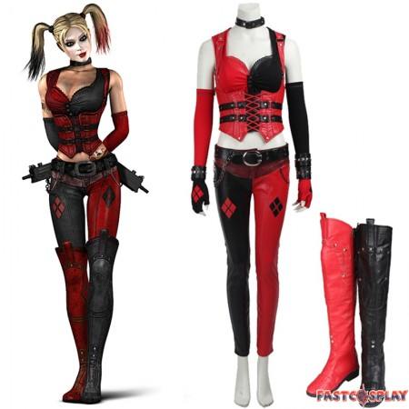 Arkham City Harley Quinn Secret Wishes Cosplay Costume