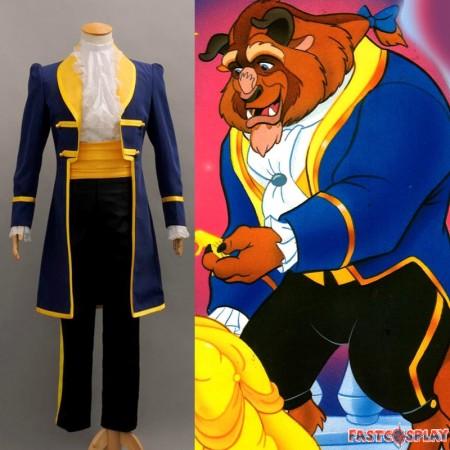 Disney Beauty and the Beast Prince Adam Cosplay Uniform Costume