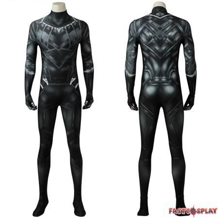 Black Panther Cosplay Costume Civil War T'Challa Jumpsuit