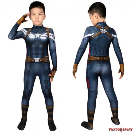 Captain America 2: The Winter Soldier Steve Rogers Kids 3D Jumpsuit