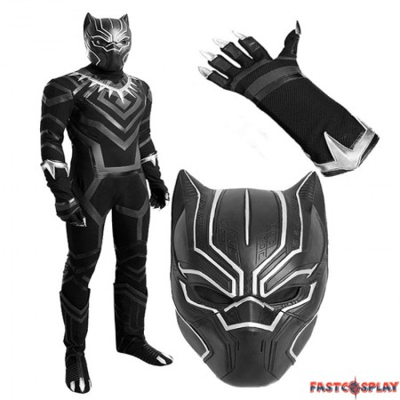 Civil War Black Panther T'Challa Costume Cosplay